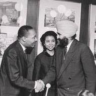 Unidentified Sikh with Dr. Mather Luther King. 1960s.
