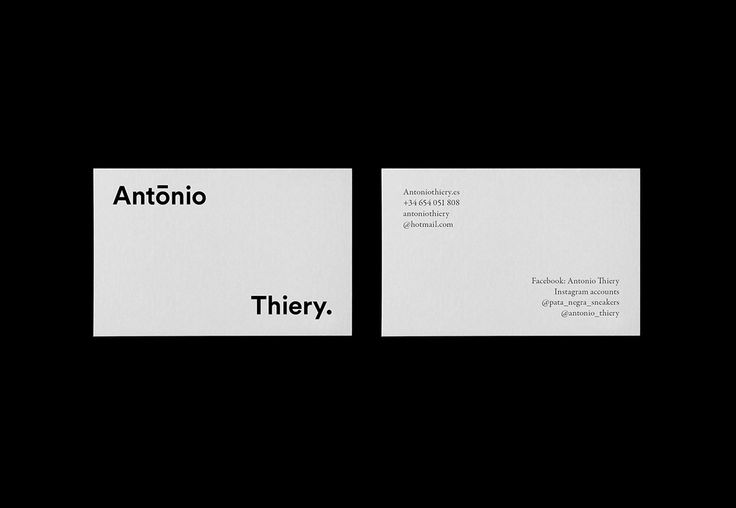 Antonio Thiery identity on Behance