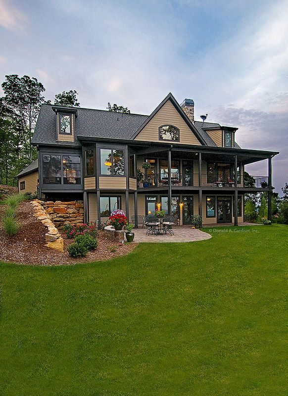 224 best images about rear exteriors on pinterest house for Hillside walkout house plans
