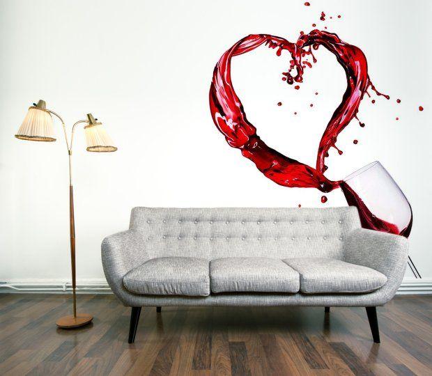 Fototapeta samoprzylepna laminowana Wino, cena ok. 160 zł za metr kw., dekornik.pl