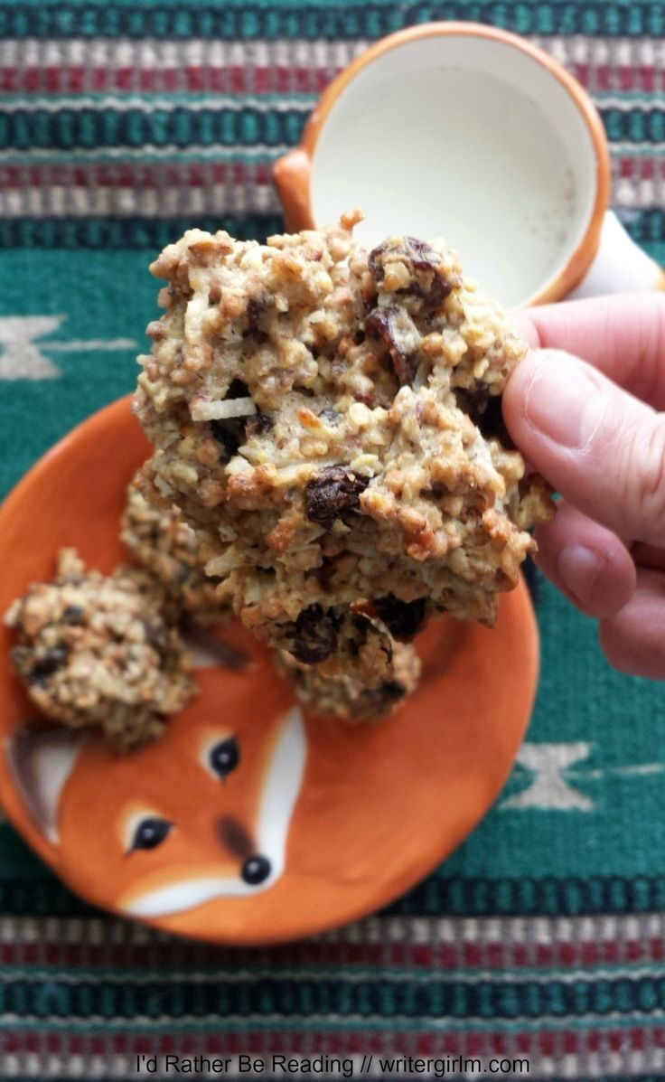 The oatmeal power-up cookies are health-packed but still tasty enough to serve up with a glass of milk for dessert!