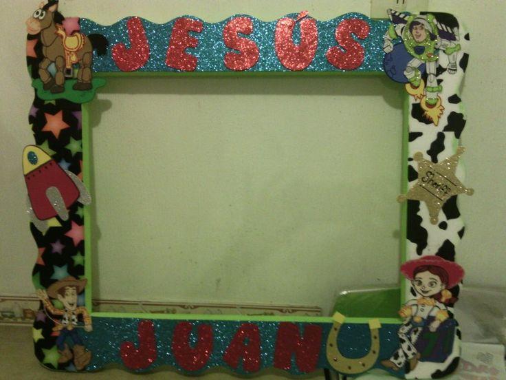 Marco para fotos toy story decoraci n de fiestas - Decoracion de marcos para fotos ...