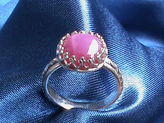 Star Ruby in a sterling silver Victorian setting  by jewellsbyleah