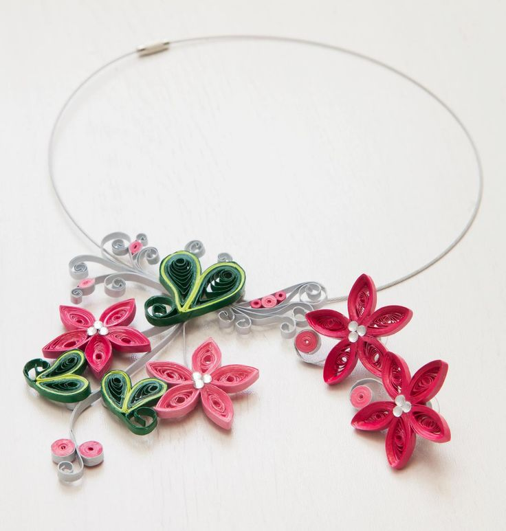 Elegant floral set the perfect gift for Unique artistic quilled piece not just jewellery but art.
