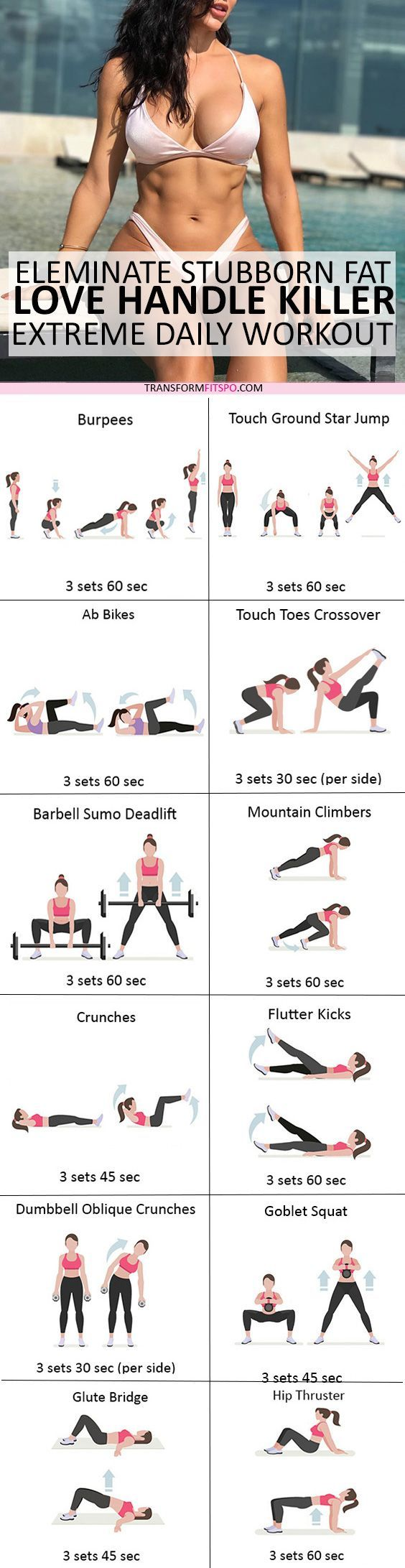 #womensworkout #workout #female fitness Repin and share if this workout killed your love handles! Click the pin for the full workout.