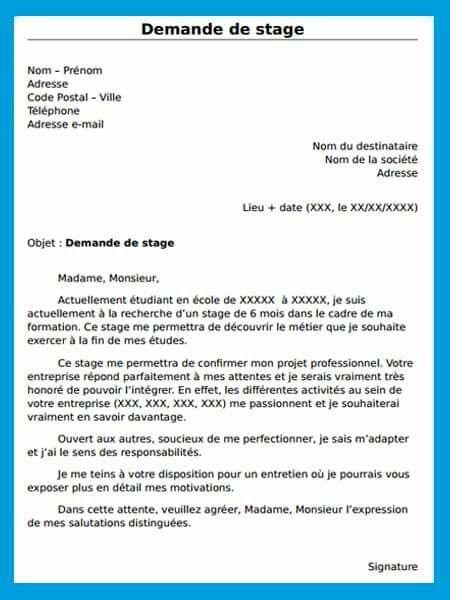 Epingle Par Irina Koch Sur Francais Lettre De Motivation Stage Lettre De Motivation Lettre De Stage
