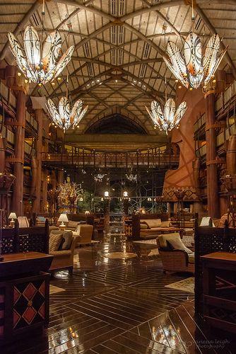 The Animal Kingdom Lodge Lobby- my first Disney hotel crush:) @Mary Knudsen