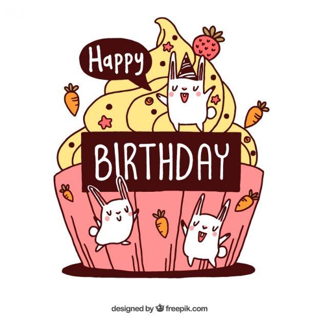 Кролик открытка день рожденье