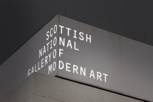 Projected Building Signage for the Scottish National Gallery   #type #typeprojection  via @tomjohn001