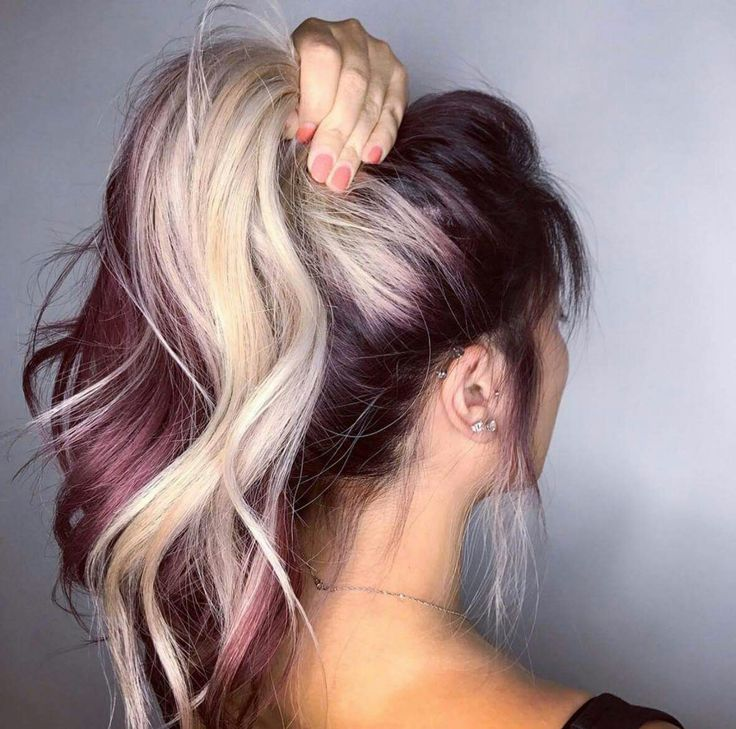 Two Tone With Images Blonde Hair Colour Shades Hair Color
