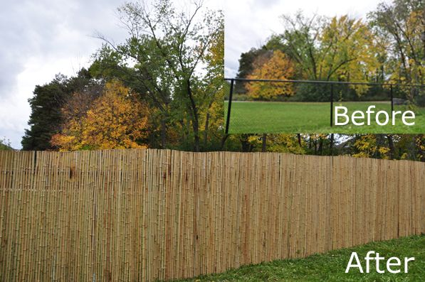 Chain Link Fence Upgrade With Bamboo Chain Fence Cover