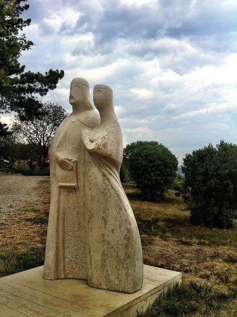 Statue of Landrás Király and Anasztázia, Tihany Hungary   Flickr - Photo Sharing!