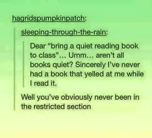 Obviously they haven't read any books that made them cry and scream
