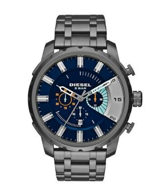 Diesel DZ4358 Stronghold Chronograph Blue Dial Men's Watch · Stainless Steel  ...