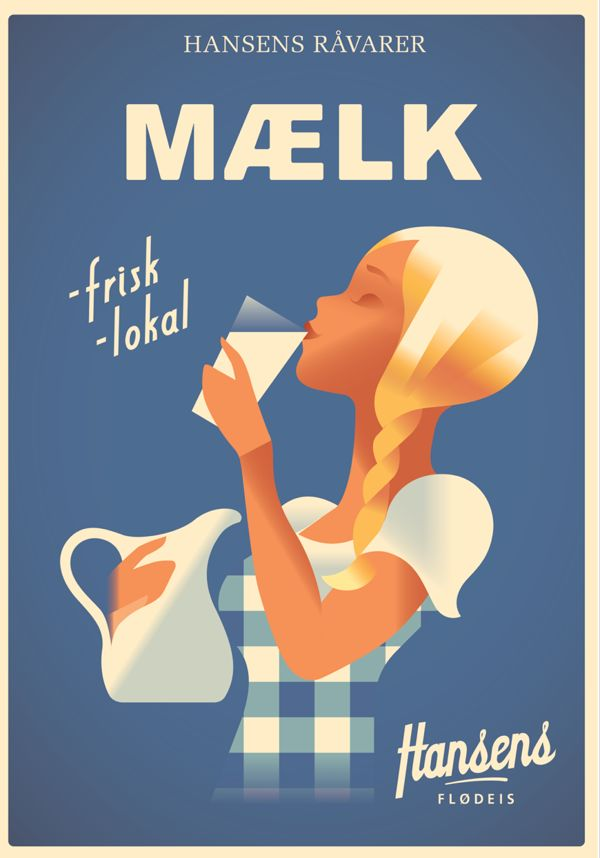 Hansens Posters 2013 by Mads Berg, via Behance