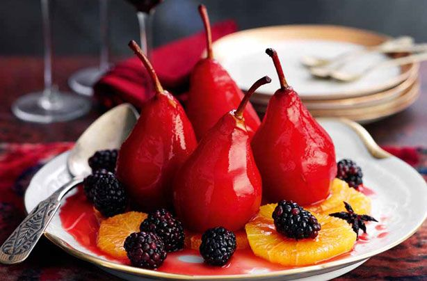 Slimming World's spiced pears
