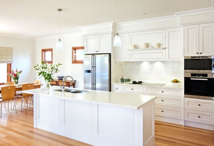 #Hamptons #country #kitchen Complete Kitchens, caesar stone snow