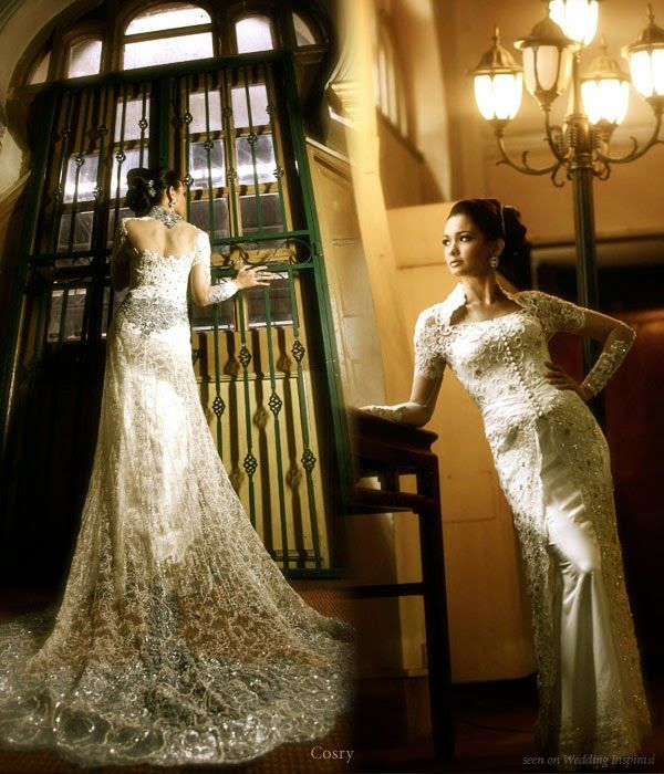 Kebaya Modern model kebaya pengantin wedding dress Qbaya.com