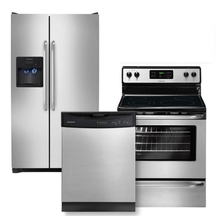 Frigidaire Stainless 3pc W/ Elec Range FFSS2614QS FFEF3043LS FFBD2411NS  NEW. Kitchen Appliance PackagesStainless ...