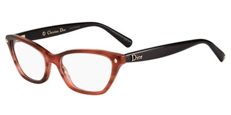 Dior Glasses CD3225 E2K is designed for women and the frame is tortoise. This style has a medium - 53mm lens diameter. The bridge size for this model is 16mm land the side length is standard. This adult designer prescription glasses model is a plastic, rectangle shape. The full rimmed frame with a Dior cd3225 e2k eyeglasses comes with free single vision lenses, scratch resistant coating, tint (if required), hard case & cloth, minimum 12 month warranty and authenticity guaranteed. Delivery is…