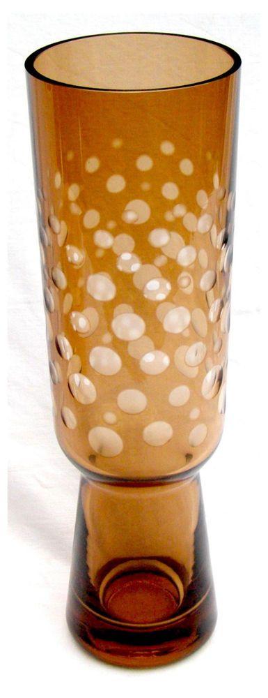 Space Age große dickwandige Vase 60er/70er Jahre*Jachmann Schliff?farbig Überfan in Antiquitäten & Kunst, Glas & Kristall, Sammlerglas | eBay!