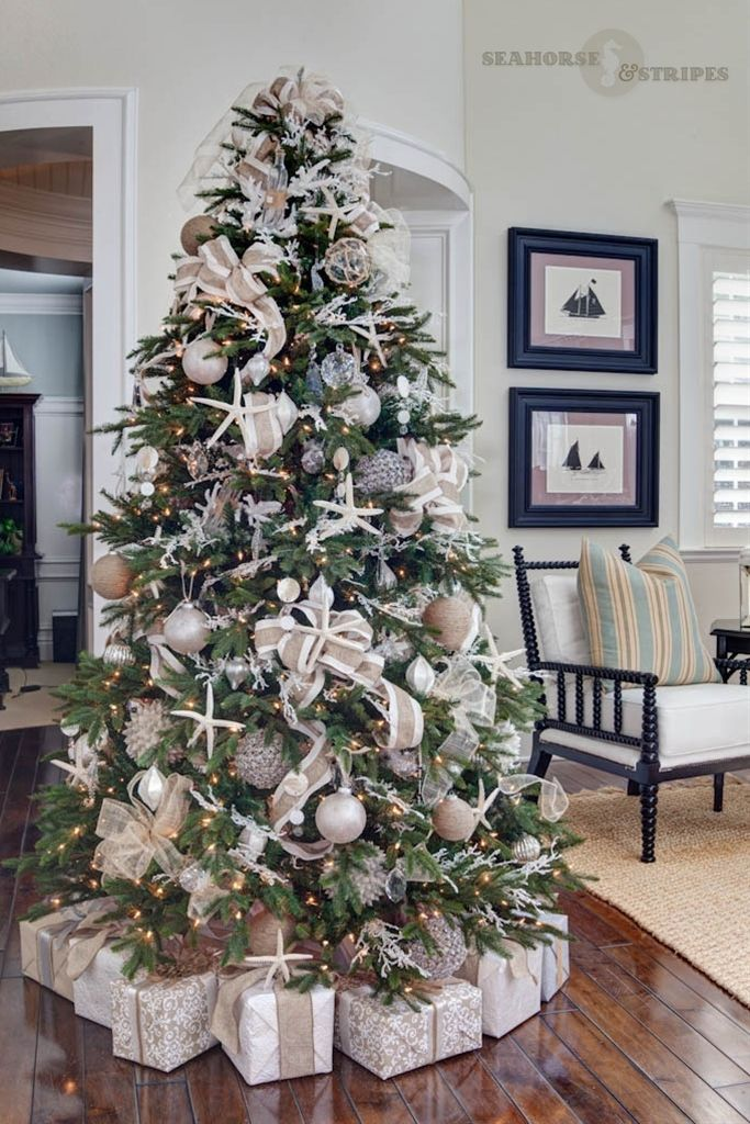 COASTAL CHIC DESIGNER CHRISTMAS TREE