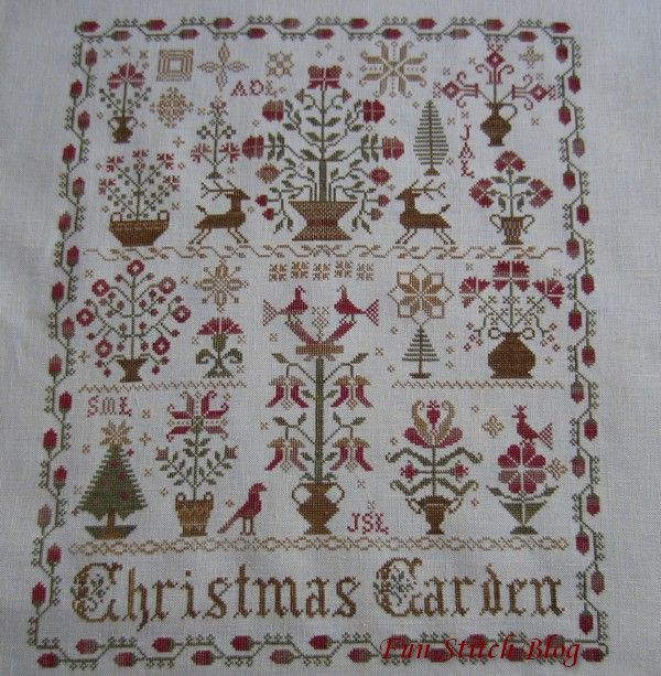 17 best images about embroidery cross stitch on pinterest for Christmas garden blackbird designs