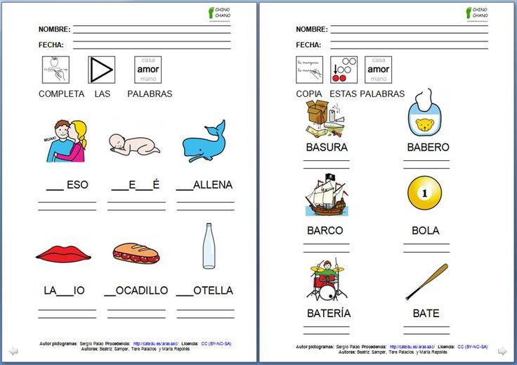 MATERIALES - Chino-Chano.  Conjunto de fichas para trabajar la lectoescritura en mayúsculas.  El material se organiza por letras; dentro de la carpeta de cada letra, podéis encontrar la portada, las fichas de trabajo y los autodictados.    El material se organiza por letras; dentro de la carpeta de cada letra, podéis encontrar la portada, las fichas de trabajo y los autodictados.      http://www.catedu.es/arasaac/materiales.php?id_material=733