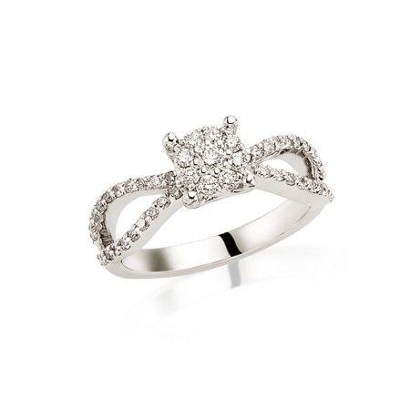 Inel de logodna LRY233 - Diamante - Inele de logodnă