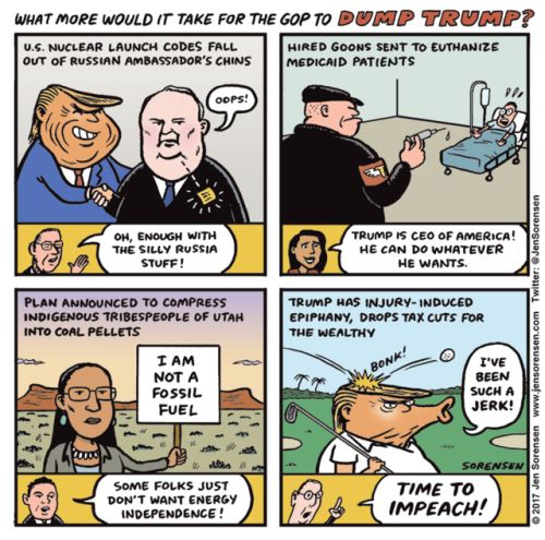 Cartoon: What Would It Take For The GOP To Dump Trump