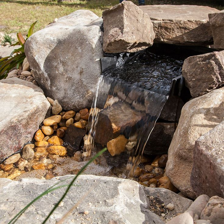 31 best pond pondless waterfalls images on pinterest for Pond waterfall spillway ideas