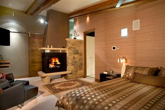 106 best images about exterior on pinterest mountain for Master bedroom corner fireplace
