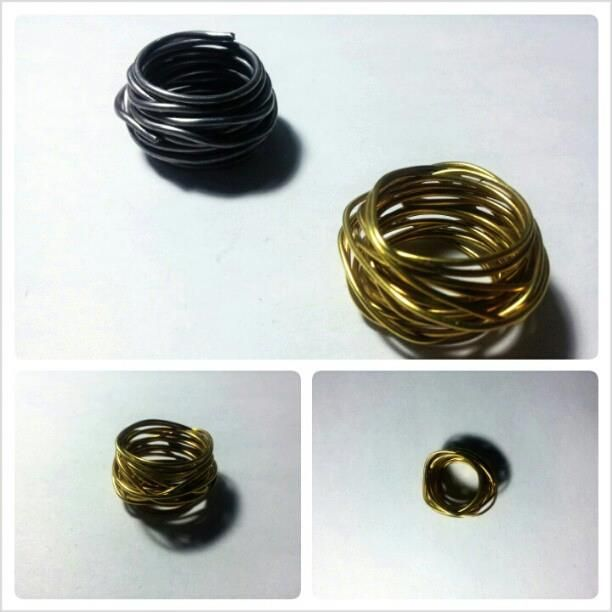 Silver and brass rings that create an amazing  band! For info contact me to: immacolataspinelli@gmail.com