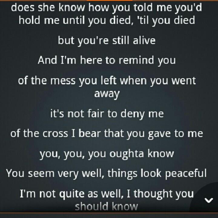 Songtext von Alanis Morissette - You Oughta Know Lyrics