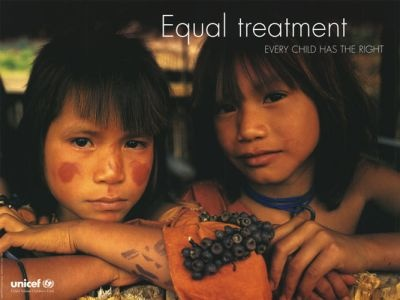 """UNICEF poster - circa 1999 - Part of the """"Convention on the Rights of the Child"""" series"""