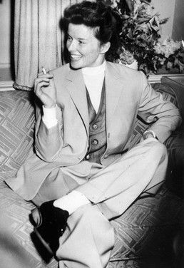 Love how Katherine Hepburn was so bold with her style! Back in the day this was groundbreaking