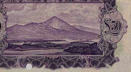 £50 'ploughman' note (reverse design - showing Croagh Patrick, Co Mayo)