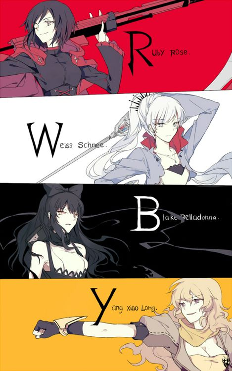 think about this if ruby is air Weiss is ice Blake is earth and yang is fire then suns team is similar but team ruby falls in love with there opposite Blake (earth) sun (air) yang (fire) Neptune (water) that mean the other two on that team that haven't been introduced is fire who will be with Weiss earth who will be with ruby
