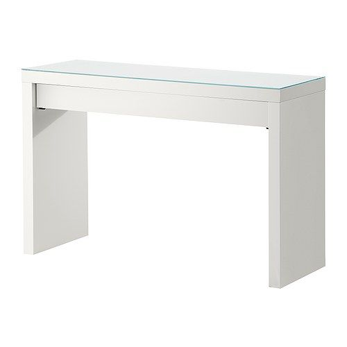 ikea malm dressing table $129 smaller in size with drawer - multiples would be perfect for a series of worksurfaces.