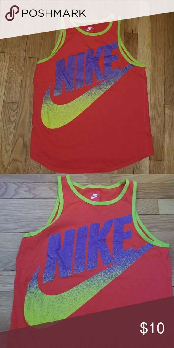 Nike tank Excellent condition! Neon colors like new tank . Nike Shirts & Tops Tank Tops