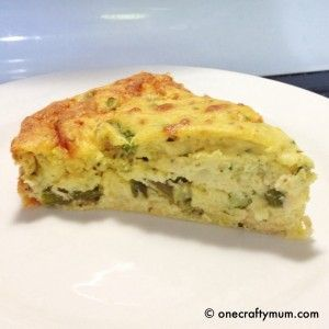 Chicken & Asparagus Crustless Quiche Recipe