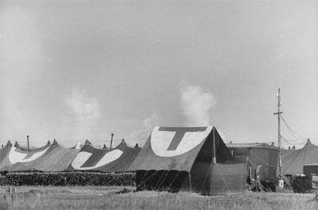 67th Evacuation Hospital near Gorron. 15-29 August 1944.