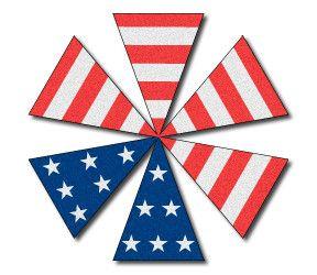 American Flag Helmet Top 6-Part