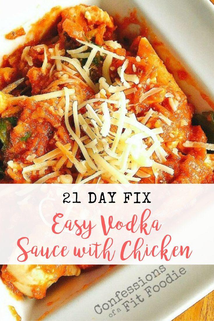21 Day Fix Vodka Sauce with Chicken