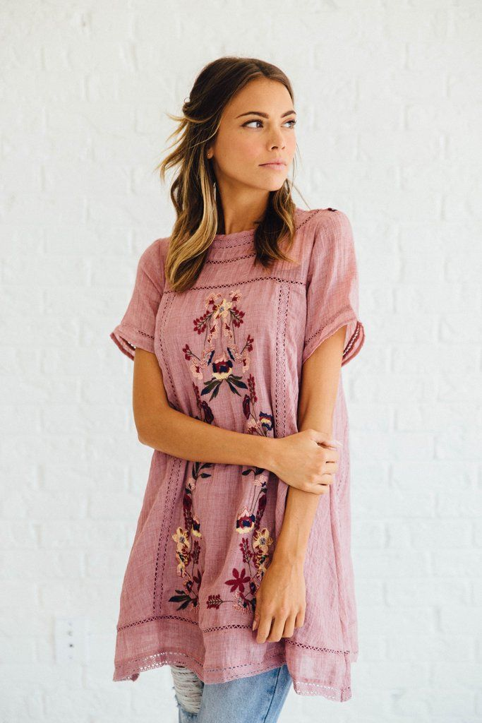 Freebird Tunic in Mauve
