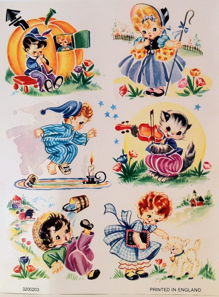 VINTAGE DECALS NURSEY RHYMES by I Heart Vintage
