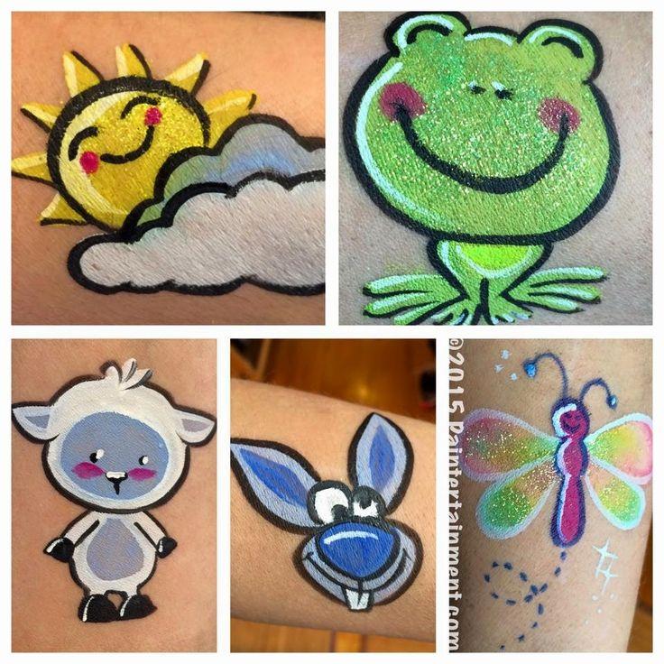 Paintertainment: Springtime Happenings at Paintertainment! -- lamb and crazy bunny, face painting, cheek art