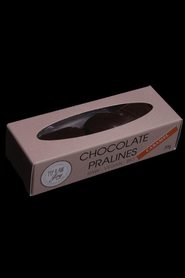 Raw Chocolate Pralines Caramel, Raw Vegan, Clean Eating, Bio