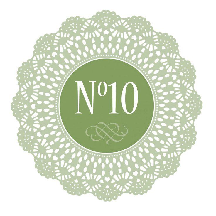 New logo / branding for No10 Cafe, Church Street, Hereford.