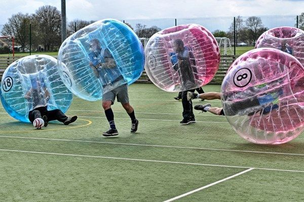 zorbing and bubble soccer stag do | see 15 more great ideas on www.onefabday.com